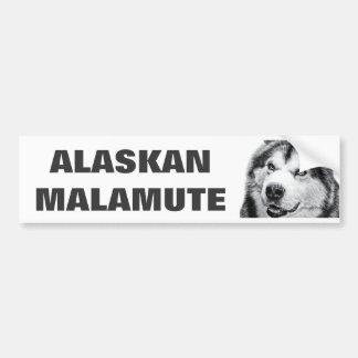ALASKAN MALAMUTE BUMPER STICKER