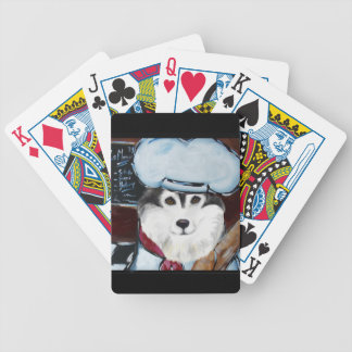 Alaskan Malamute Chef Bicycle Playing Cards
