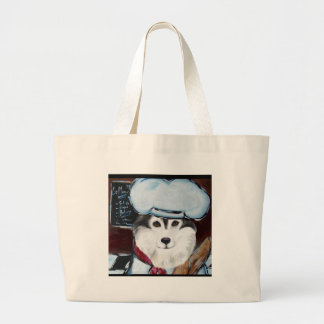 Alaskan Malamute Chef Large Tote Bag