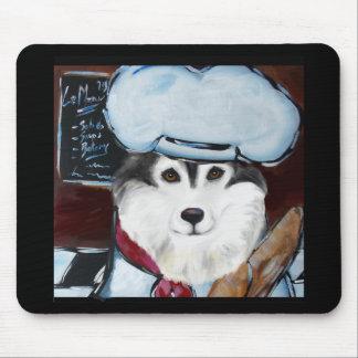 Alaskan Malamute Chef Mouse Pad