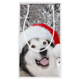 Alaskan Malamute Christmas Small Gift Bag