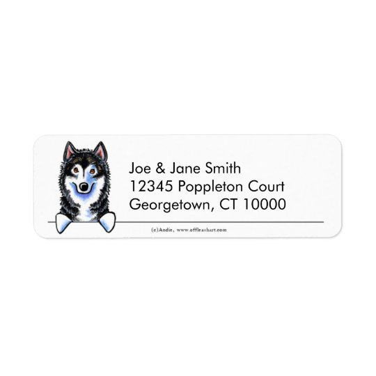 Alaskan Malamute Clean n Simple Return Address Label