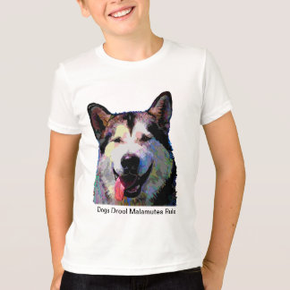 """Alaskan Malamute Dazzling """"Kiska"""" Boys T-Shirt"""