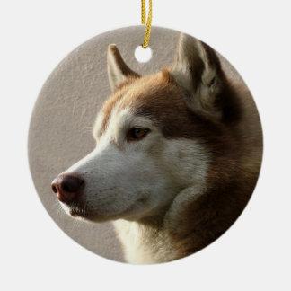 Alaskan Malamute Dog Ceramic Ornament