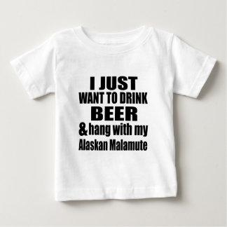 Alaskan MAlamute Dog Designs Baby T-Shirt