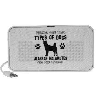 Alaskan Malamute dog designs Mp3 Speakers