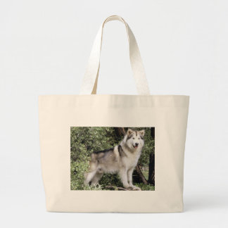 Alaskan Malamute Dog Large Tote Bag