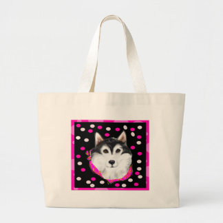 Alaskan Malamute Easter Large Tote Bag