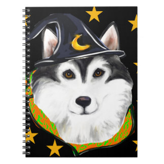 Alaskan Malamute Halloween Notebooks