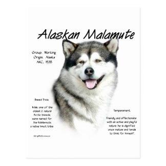 Alaskan Malamute History Design Post Card
