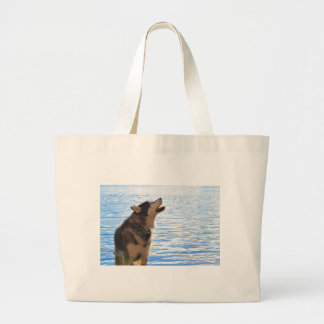 Alaskan Malamute Large Tote Bag