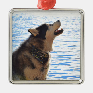Alaskan Malamute Metal Ornament