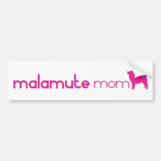 Alaskan Malamute Mom Bumper Sticker