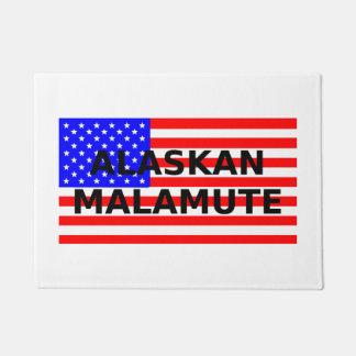 alaskan malamute name on flag doormat