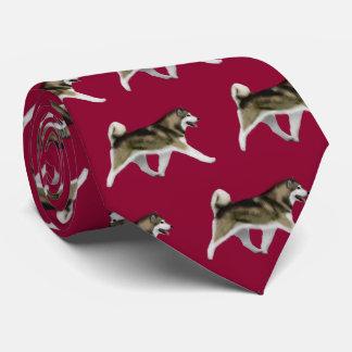 Alaskan Malamute Neck Tie - Red