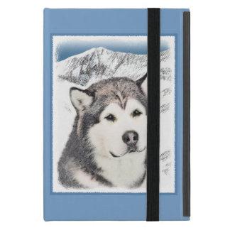 Alaskan Malamute Painting - Cute Original Dog Art iPad Mini Cover