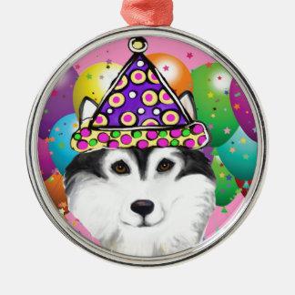 Alaskan Malamute Party Dog Metal Ornament