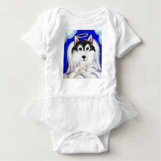 ALASKAN MALAMUTE PET ANGEL BABY BODYSUIT