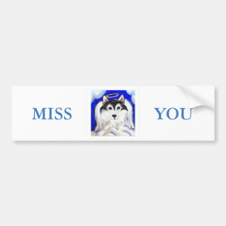 ALASKAN MALAMUTE PET ANGEL BUMPER STICKER
