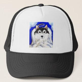 ALASKAN MALAMUTE PET ANGEL TRUCKER HAT