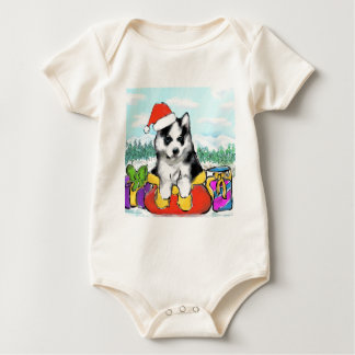 Alaskan Malamute Puppy Baby Bodysuit