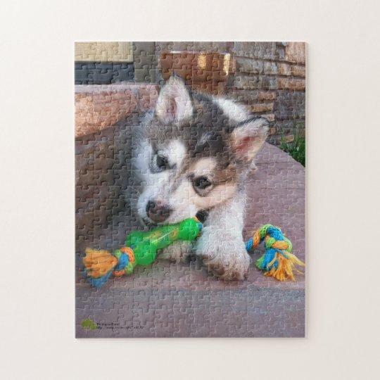 Alaskan Malamute Puppy Close-Up Photograph Jigsaw Puzzle