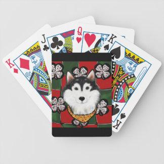 Alaskan-Malamute St. Patty Bicycle Playing Cards