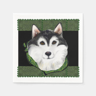 ALASKAN MALAMUTE -ST. PATTY DISPOSABLE SERVIETTES