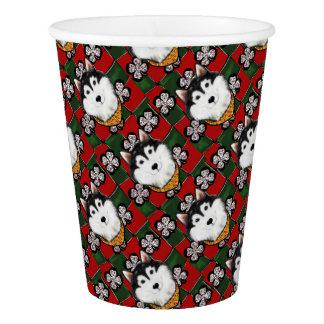 Alaskan-Malamute St. Patty Paper Cup