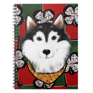 Alaskan-Malamute St. Patty Spiral Notebook