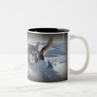 Alaskan Malamute Two-Tone Coffee Mug