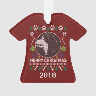 Alaskan Malamute Ugly Christmas Sweater Ornament