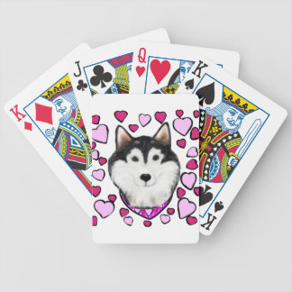 Alaskan-Malamute Valentine Bicycle Playing Cards