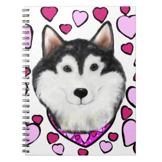Alaskan-Malamute Valentine Notebooks