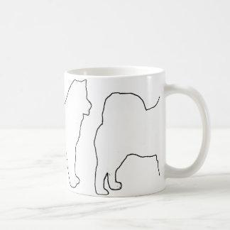 Alaskan Malamute white silo Coffee Mug