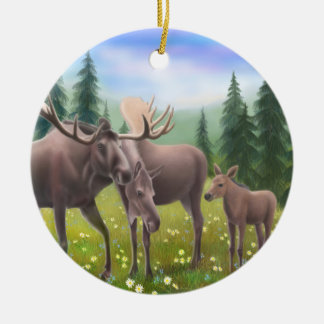 Alaskan Moose Family Ornament