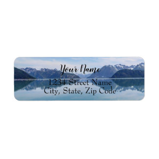 Alaskan Mountain Range Address Labels
