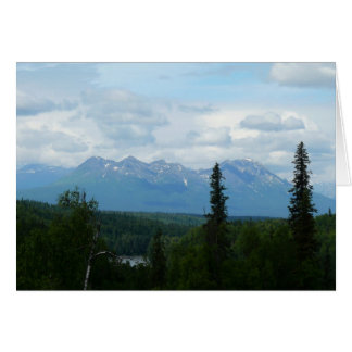 Alaskan Mountain Range Panoramic Photography Card