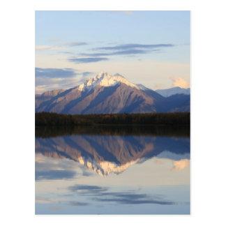 Alaskan Mountain Sunset Postcard