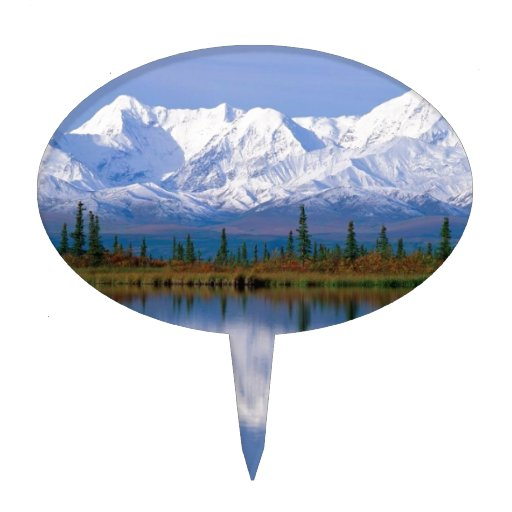Alaskan Mountians Cake Topper