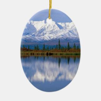 Alaskan Mountians Ceramic Oval Decoration