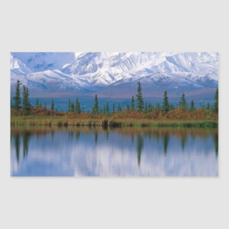 Alaskan Mountians Rectangular Sticker