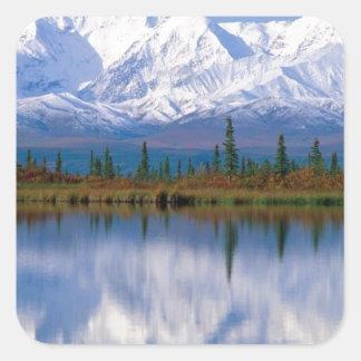 Alaskan Mountians Square Sticker