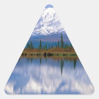Alaskan Mountians Triangle Sticker