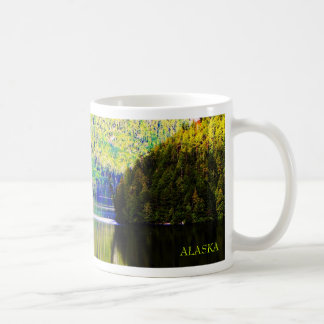 Alaskan reflection basic white mug