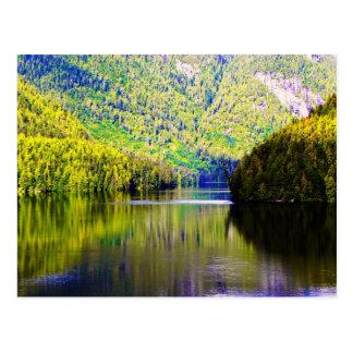 Alaskan reflection postcard