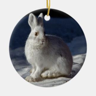 Alaskan Snowshoe Hare Ceramic Ornament