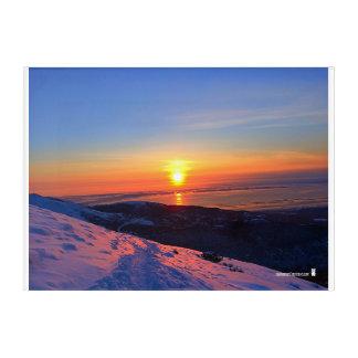Alaskan Sunset over Peak Two Acrylic Print