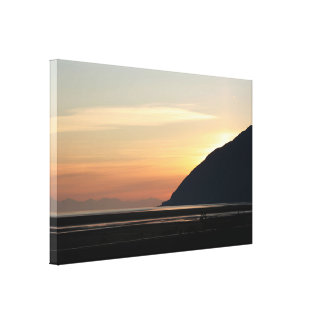 Alaskan Sunset over Turnagain Arm Canvas Print