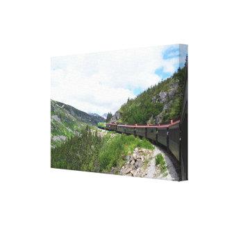 Alaskan Train print on stretched canvas